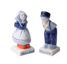 Delfts Blauw Kussend paar Peper en Zout Stel