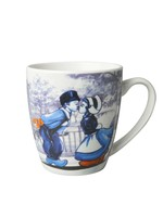 Delft Blue Mug with a Kissing Couple, Small