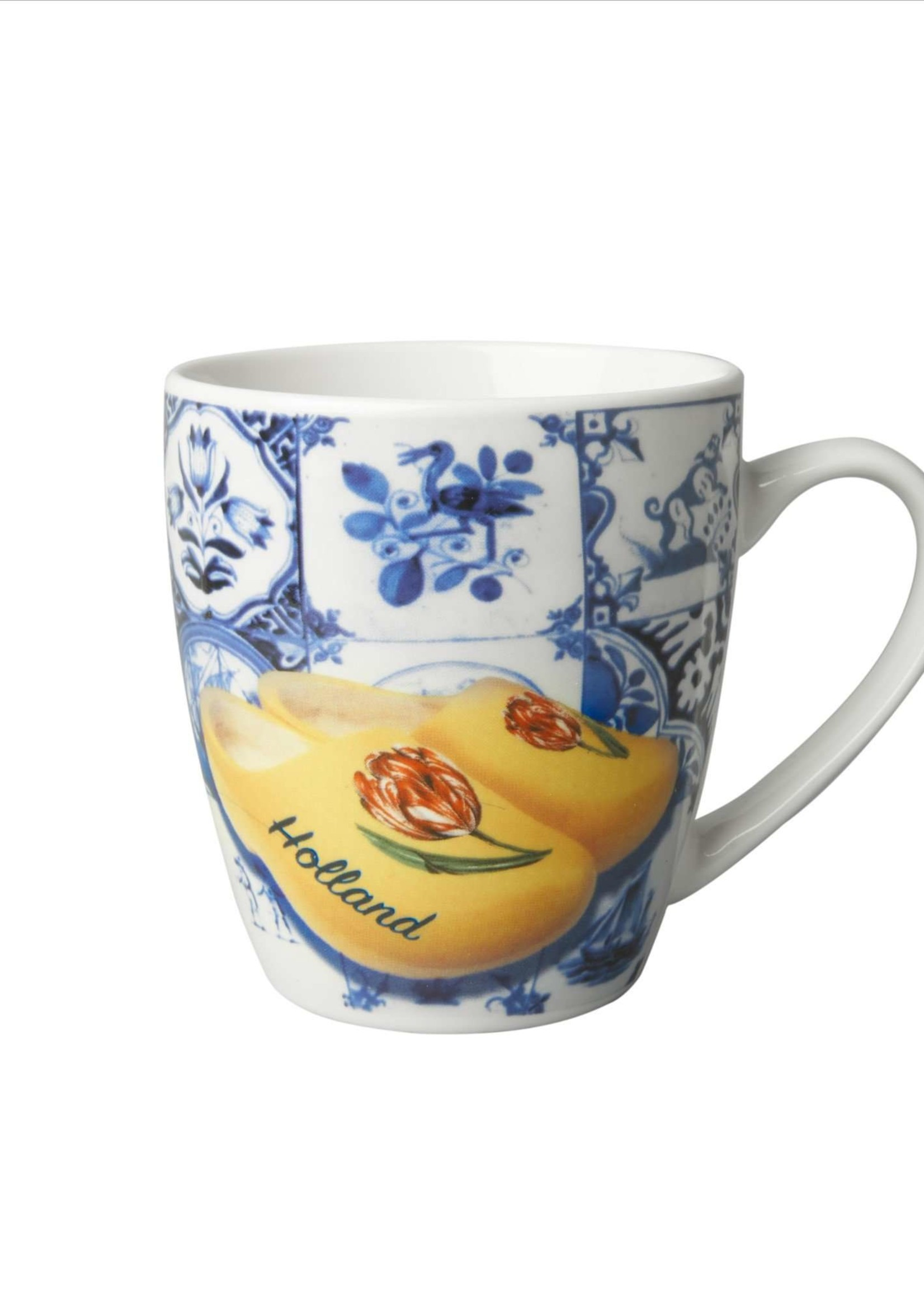 Delft Blue Mug with Tiles and Wooden Shoes, Small