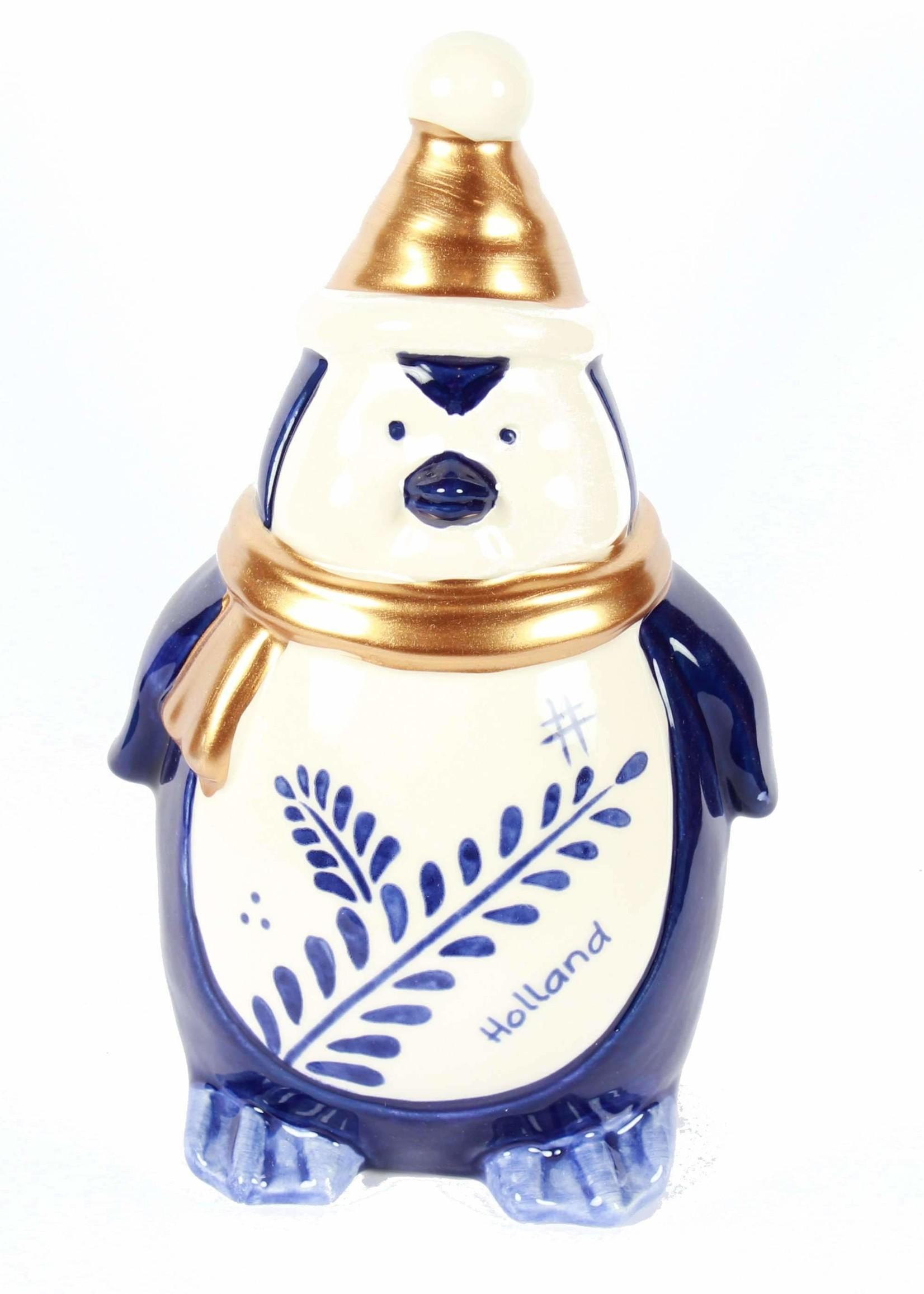 Delfts Blauwe Pinguïn, Hollandse Kerstversiering, Groot