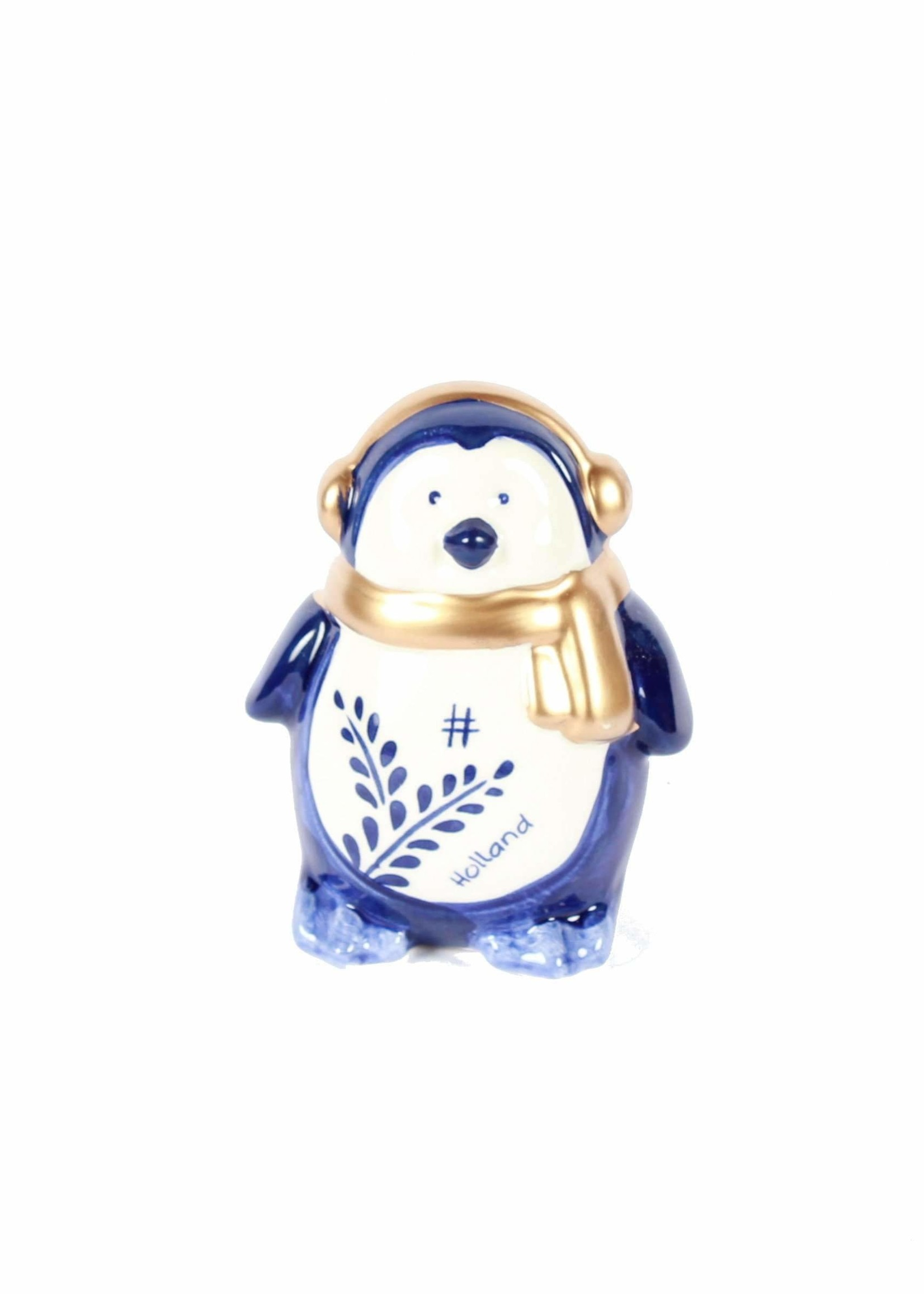 Delft Blue Penguin, Holland Christmas Decoration, Small