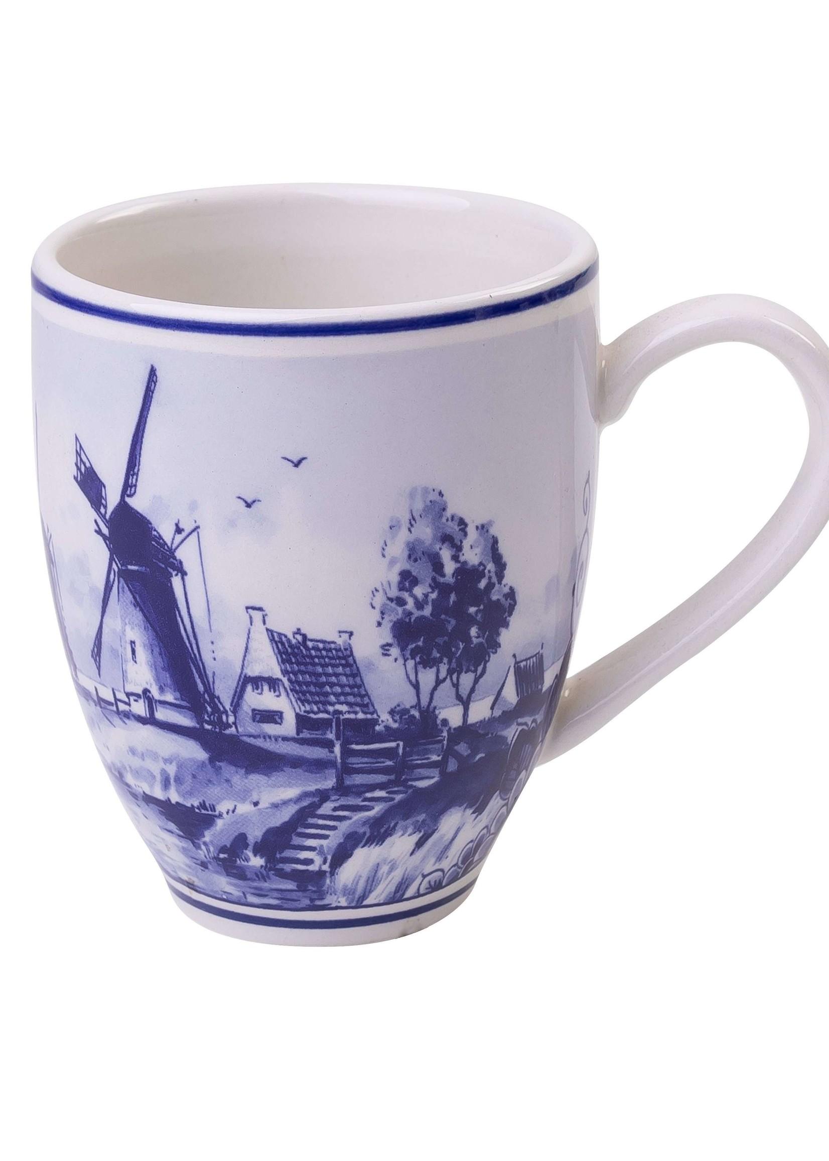 Delfts Blauwe Senseo Mok met een Windmolen