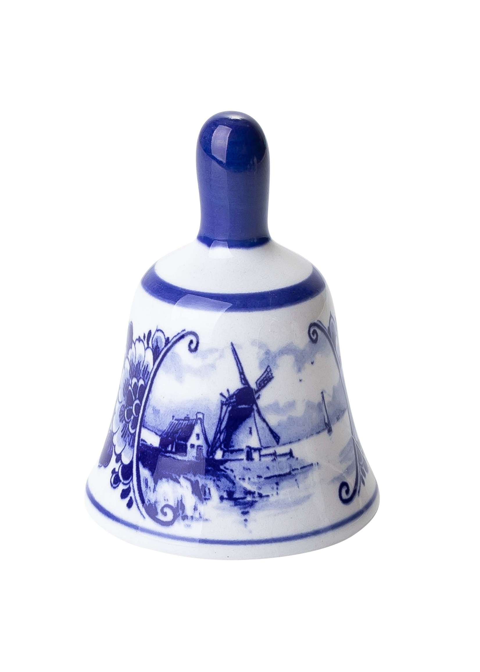 Delft Blue Table Bell with Windmill, Small