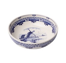 Delft Blue Tapas Bowl with a Windmill, Large