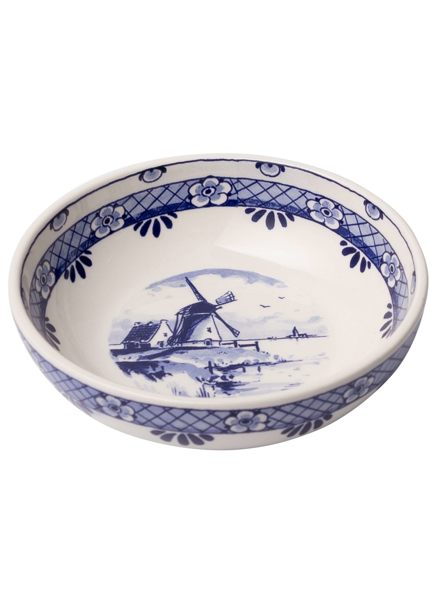 Delft Blue Tapas Bowl with a Windmill, Medium