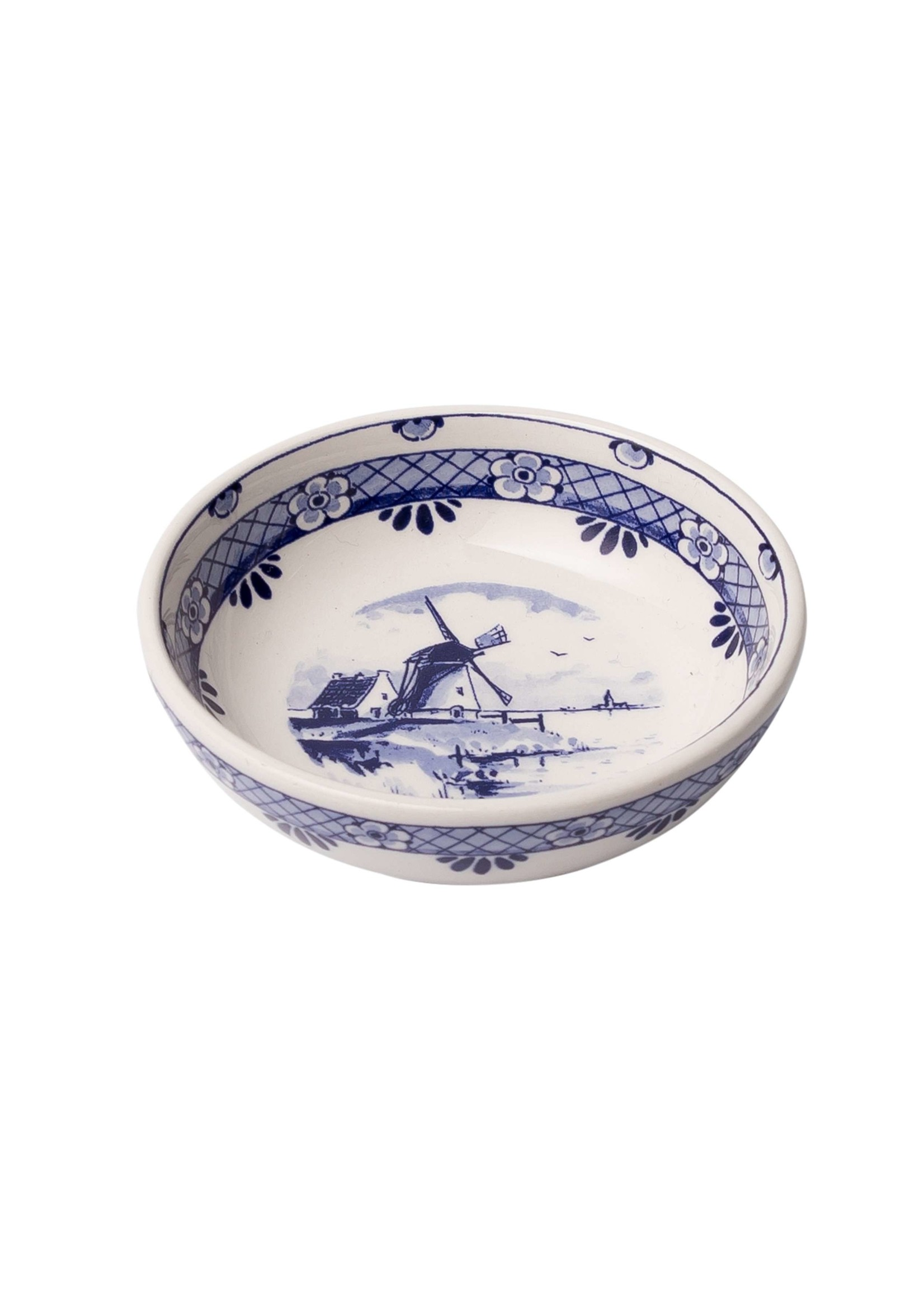 Delft Blue Tapas Bowl with a Windmill, Small