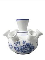 Heinen Delfts Blauw Delft Blue Tulip Vase, Floral Design, Small