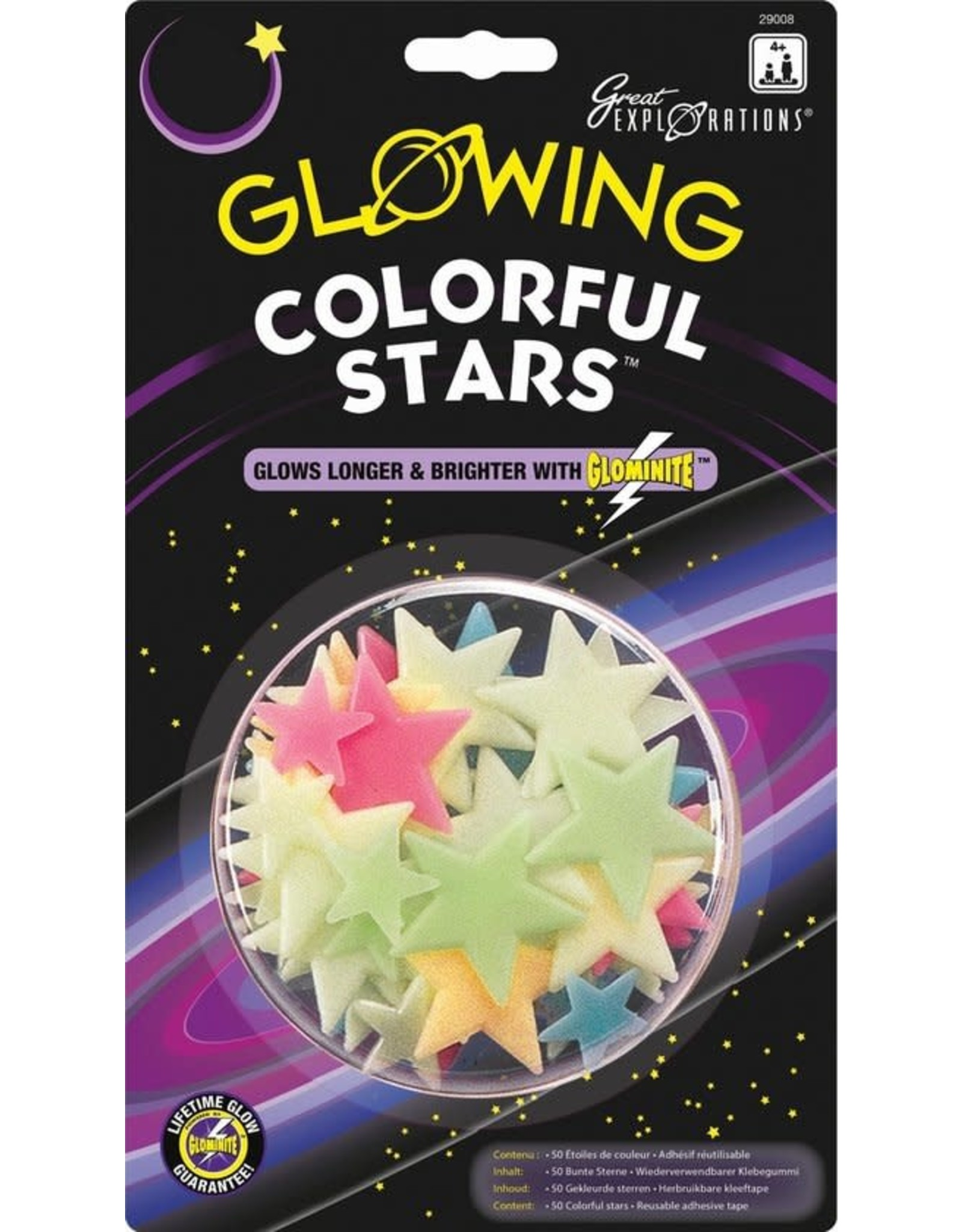 Glow in the Dark Sterren Colorful Stars