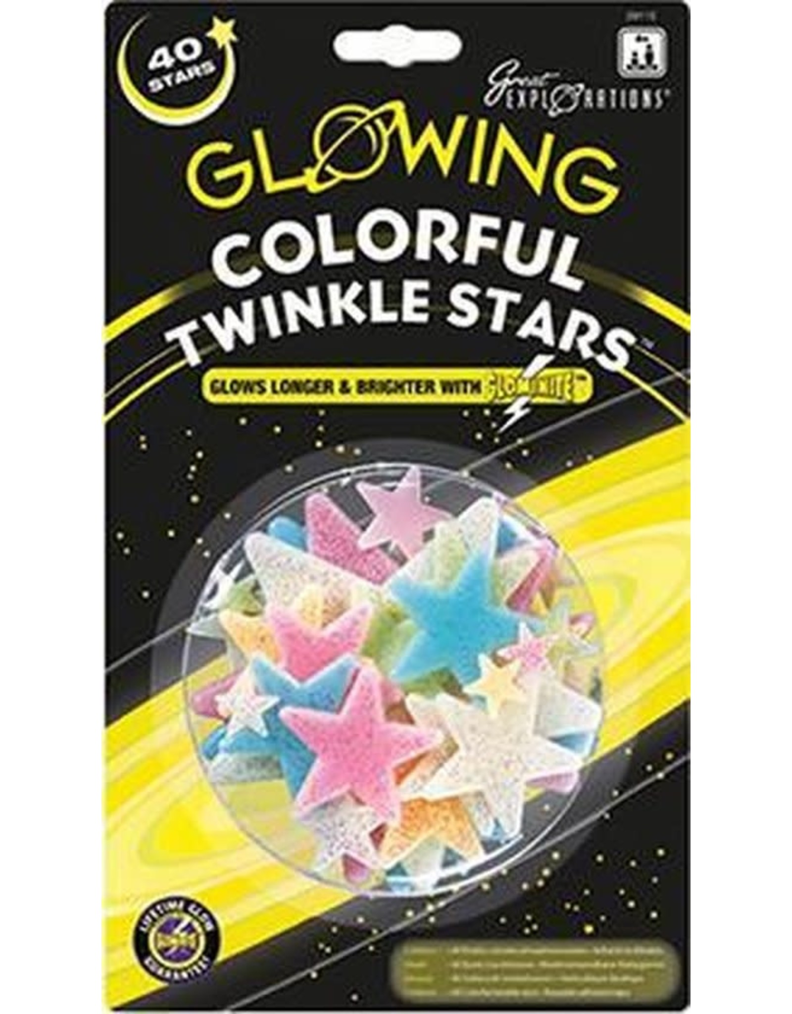 Glow in the Dark Sterren Colorful Twinkle Stars