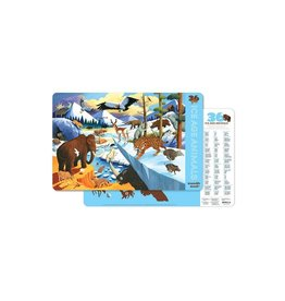 "Crocodile Creek Placemat ""36 Ice Age Animals"""