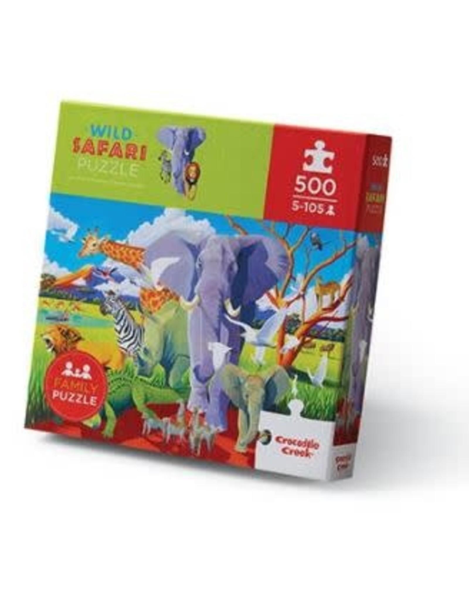 """Crocodile Creek Classic Boxed Puzzle """"Wild Safari"""""""