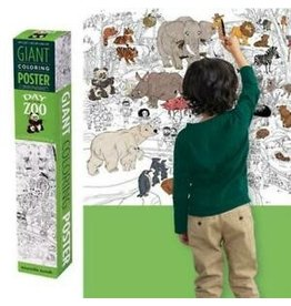 """Crocodile Creek Giant Coloring Poster """"Day at the Zoo"""""""