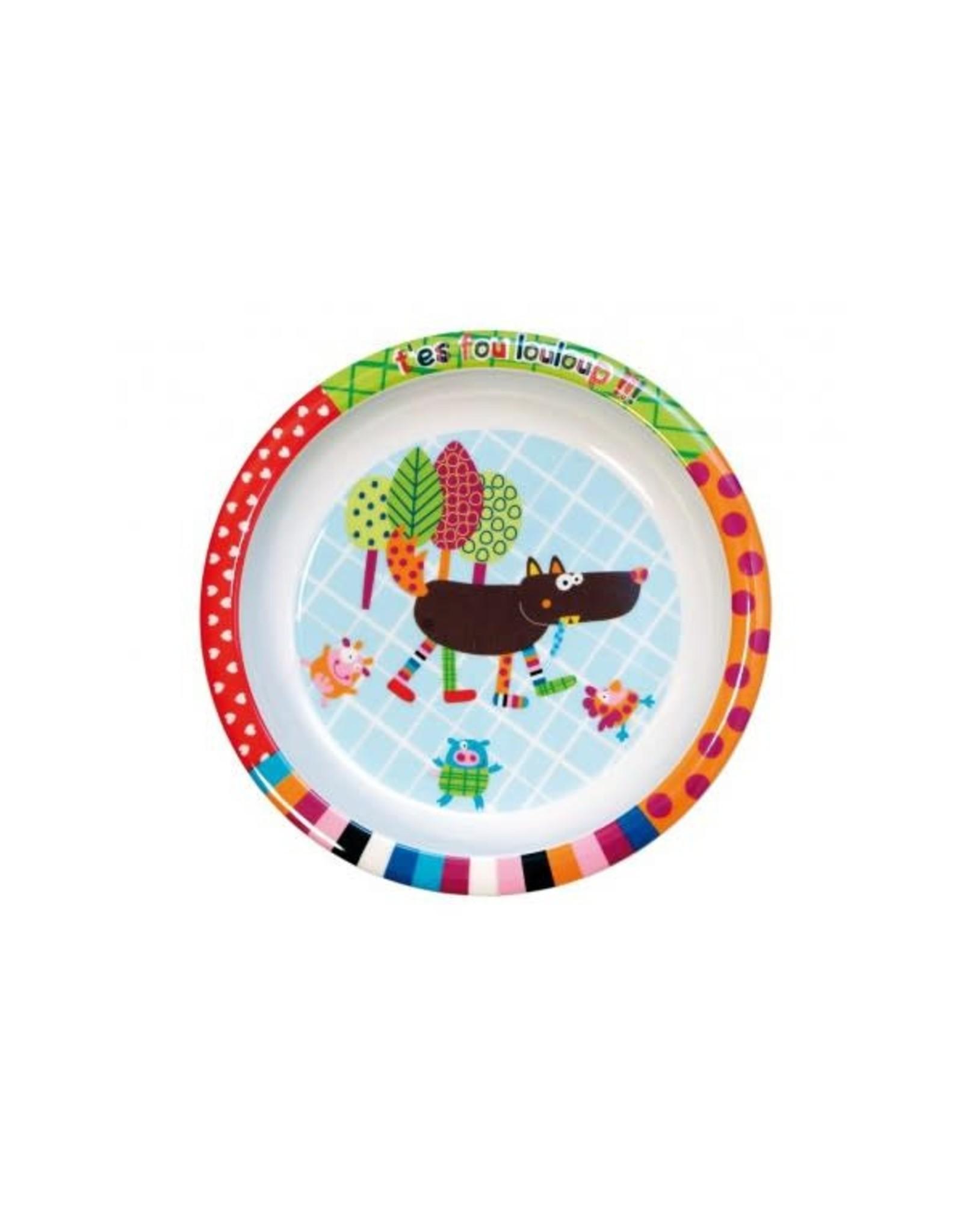 Ebulobo Ebulobo Dinnerware Bord Wolf (21cm)