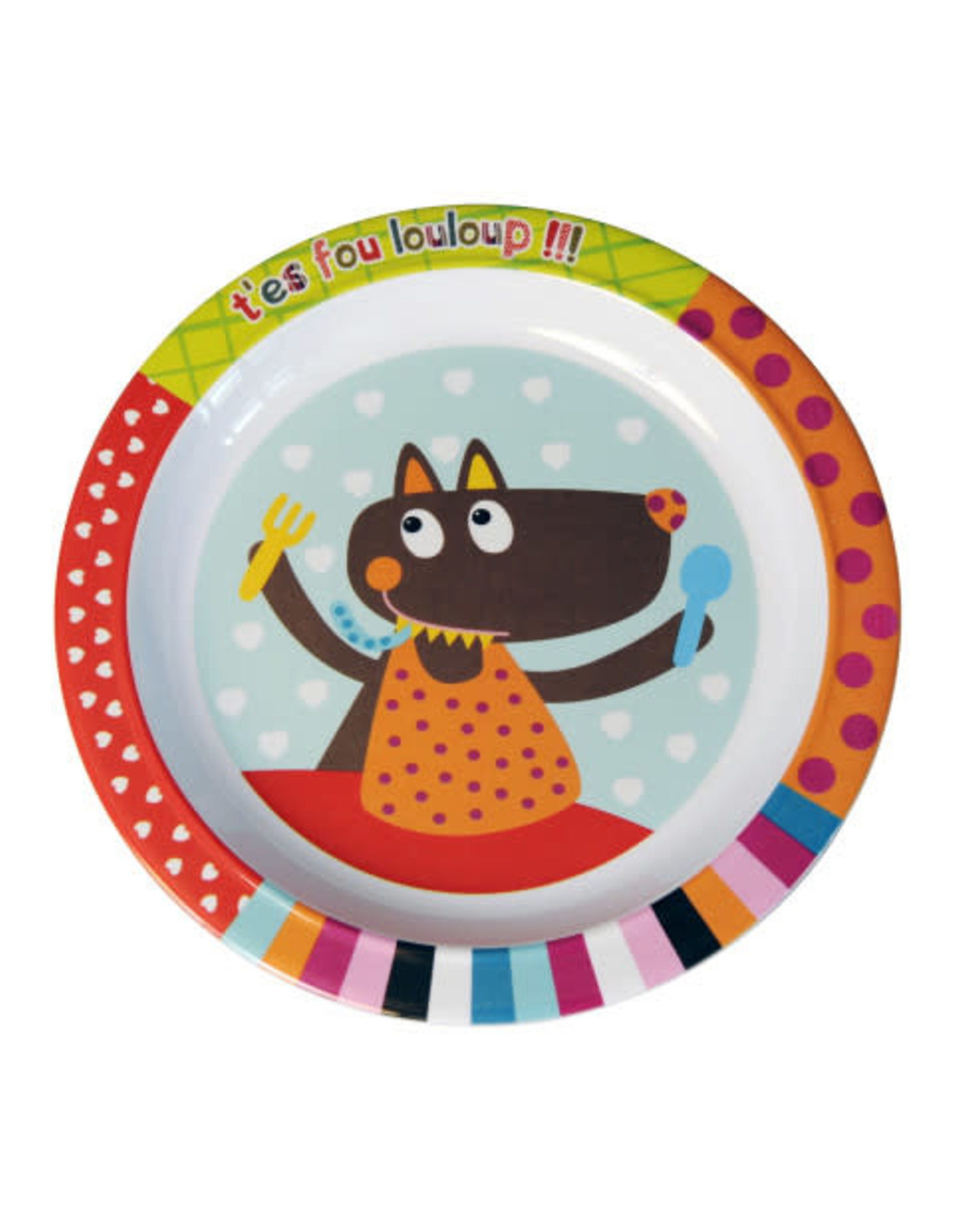 Ebulobo Ebulobo Dinnerware Bord Wolf (22cm)
