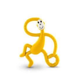 "Matchstick Monkey Matchstick Monkey Mini Monkey Teether ""Geel"""