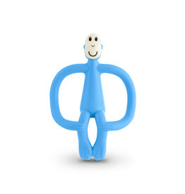 """Matchstick Monkey Matchstick Monkey Teether """"Light Blue"""""""