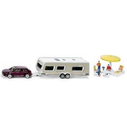 Siku Siku 2542 - 1:55 Auto met Caravan en accessoires
