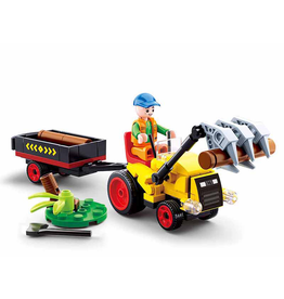 Sluban Sluban Farmer - Traktor met Boomstammen