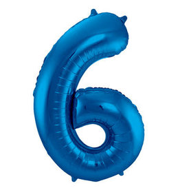 "Number Balloons 86 cm ""Blue"""