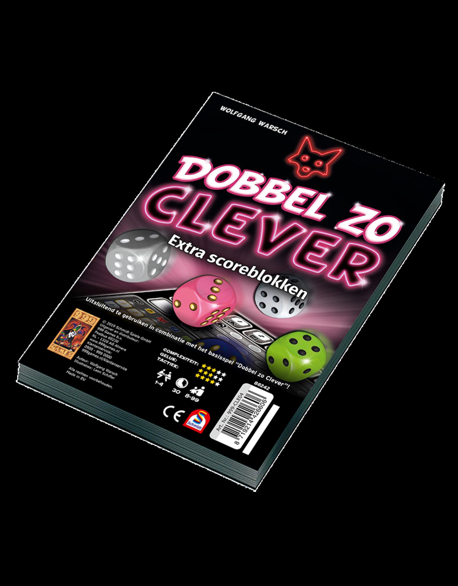 999 Games Dobbel zo Clever Scoreblokken