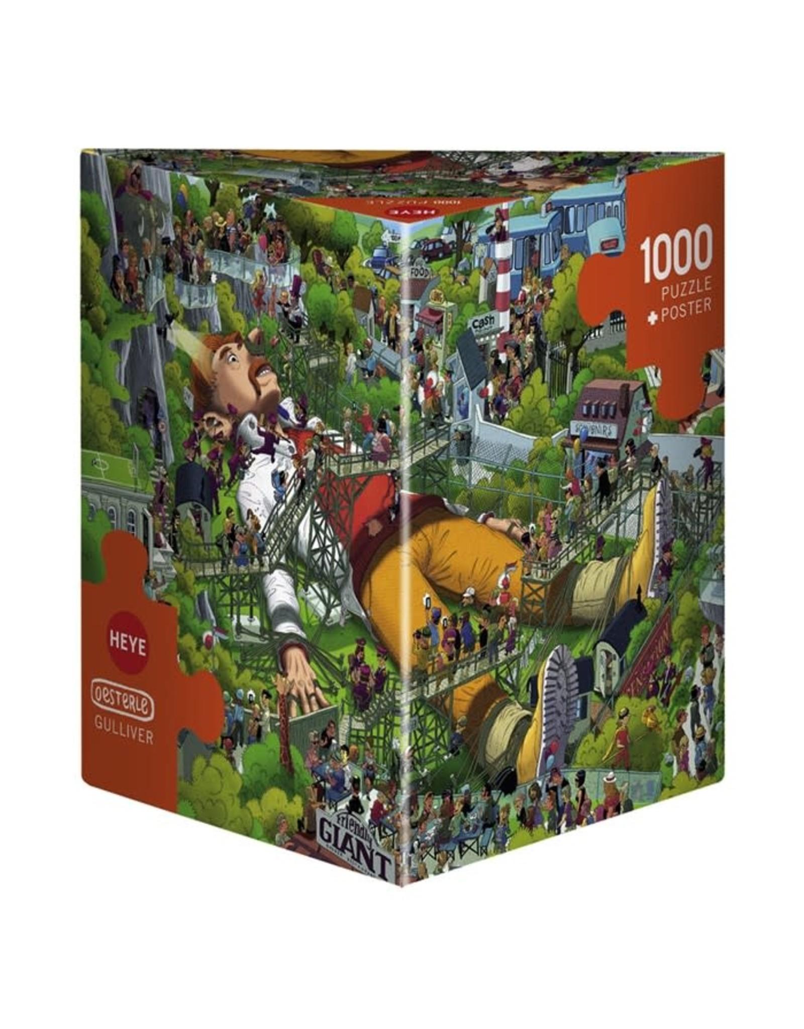 """Heye Puzzel + Poster """"Gulliver"""" 1000 stukjes"""