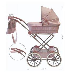 ByASTRUP Poppenwagen Klassiek Roze