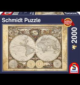 """Schmidt Puzzel """"Historische Kaart van de Wereld"""" 2000 stukjes"""