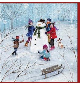 "Woodmansterne Set Wenskaarten ""Building a Snowman"" (5 stuks)"