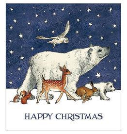 "Woodmansterne Set Wenskaarten ""Happy Christmas"" (5 stuks)"