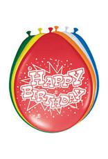 Ballonnen (8 stuks) Happy Birthday