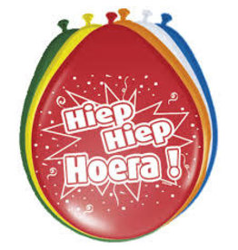 Ballonnen (8 stuks) Hiep Hiep Hoera!