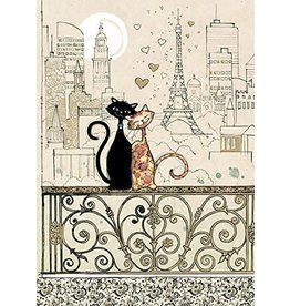 """BugArt Wenskaart """"Romantic Cats"""""""