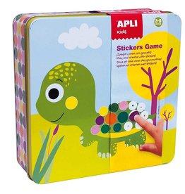 """APLI Sticker Spel in Blik """"Dieren"""""""
