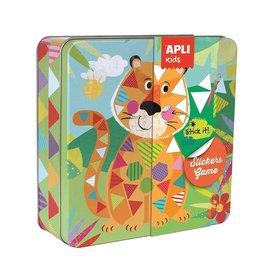 """APLI Stickerkaarten in blik """"Jungle"""""""