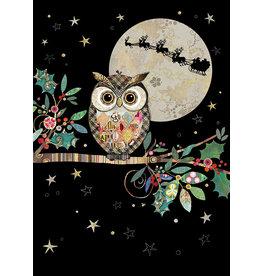 """BugArt Wenskaart """"Christmas Owl"""""""