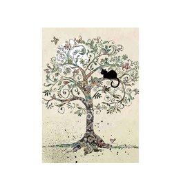 """BugArt Wenskaart """"Cat in a Tree"""""""