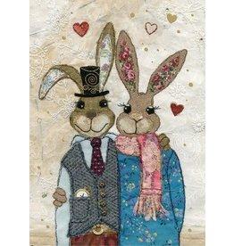 """BugArt Wenskaart """"Rabbit Couple"""""""