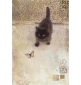 "BugArt Wenskaart ""Black Kitten"""