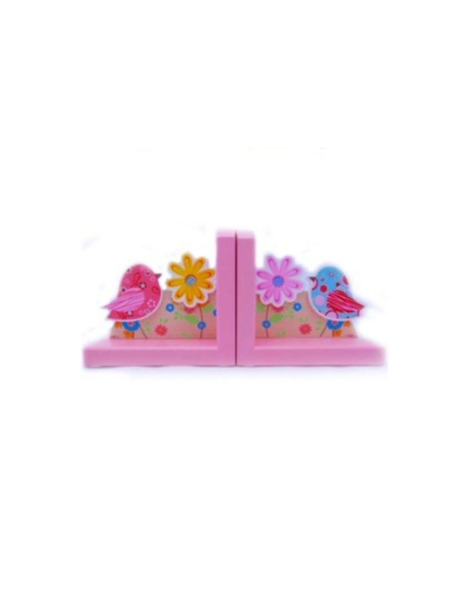 Boekensteunen Pink Birds