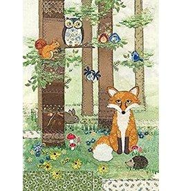 """BugArt Wenskaart """"Woodland Fox"""""""