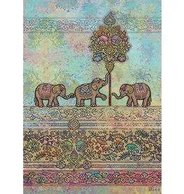 """BugArt Wenskaart """"Indian Elephants"""""""
