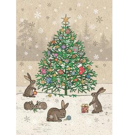 "BugArt Wenskaart ""Rabbits Tree"""