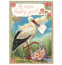 "Madame Treacle Wenskaart ""A New Baby Girl"""