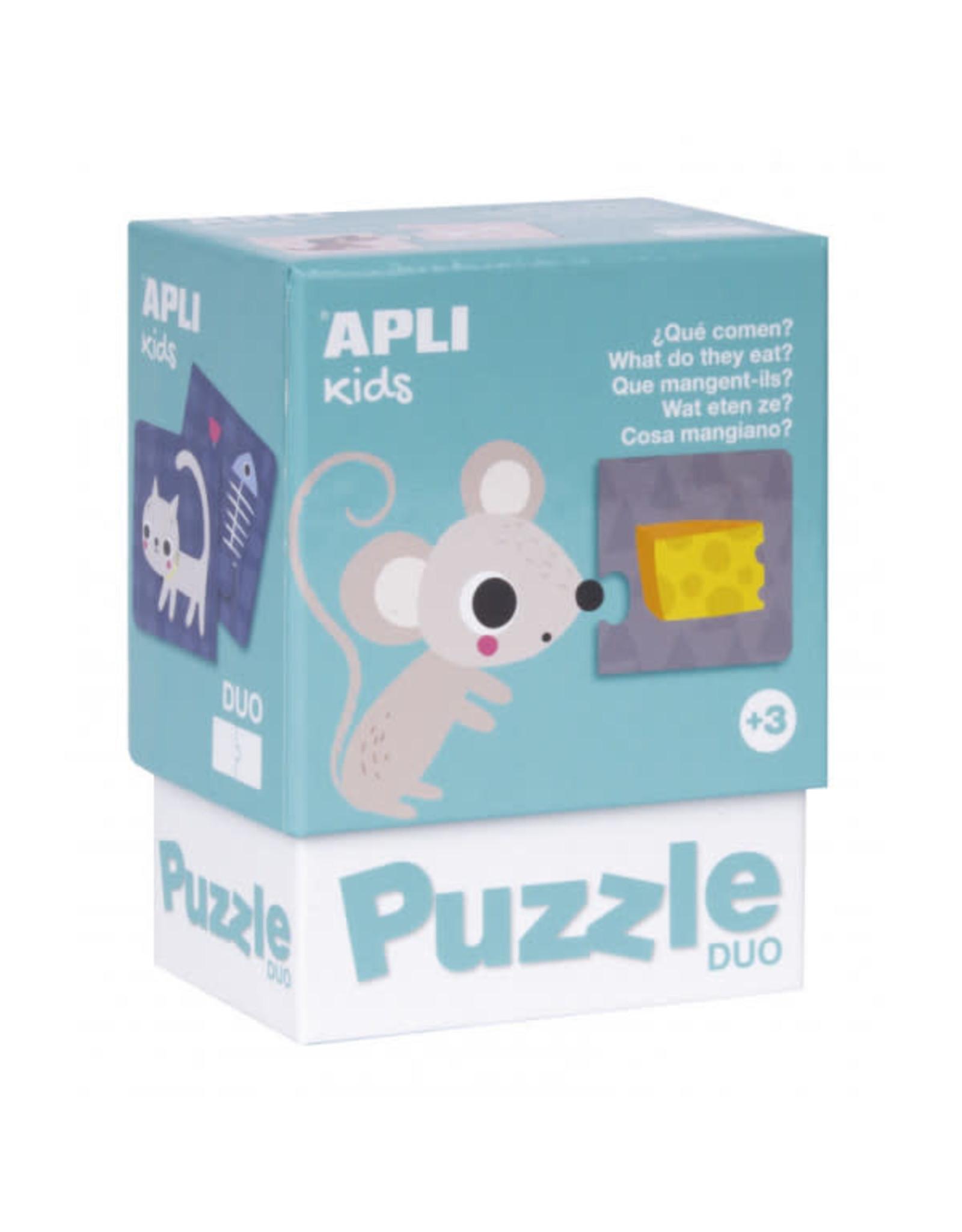 """APLI Duo Puzzels """"Wat eten ze?"""""""