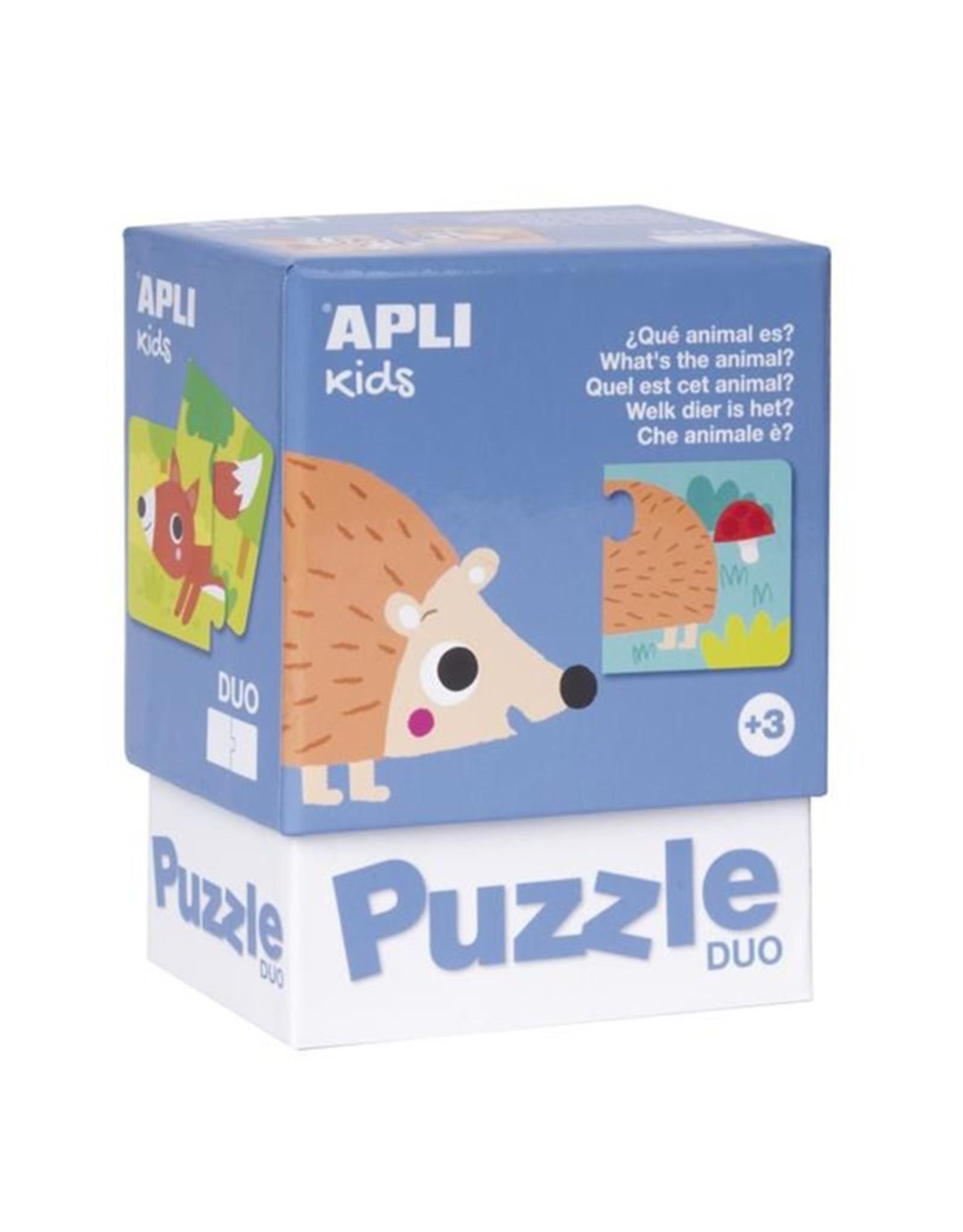 """APLI Duo Puzzels """"Dieren"""""""