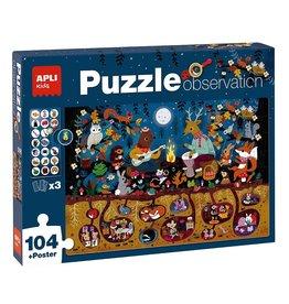"""APLI Observeer Puzzel """"Het Bos"""" 104-delig"""