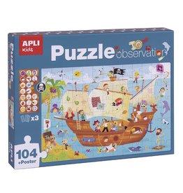 "APLI Observeer Puzzel ""Piratenschip"" 104-delig"