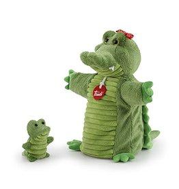 Trudi Handpop Krokodil met Baby