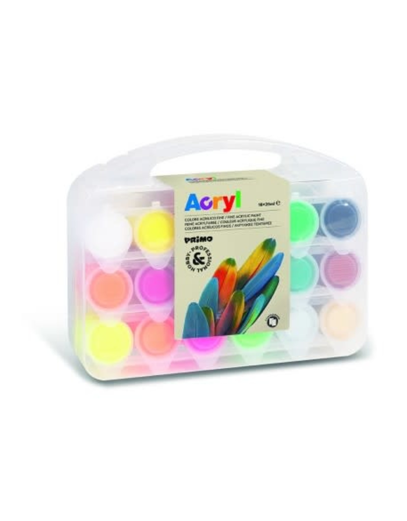 Primo Acrylverf in Koffer (18x25ml)