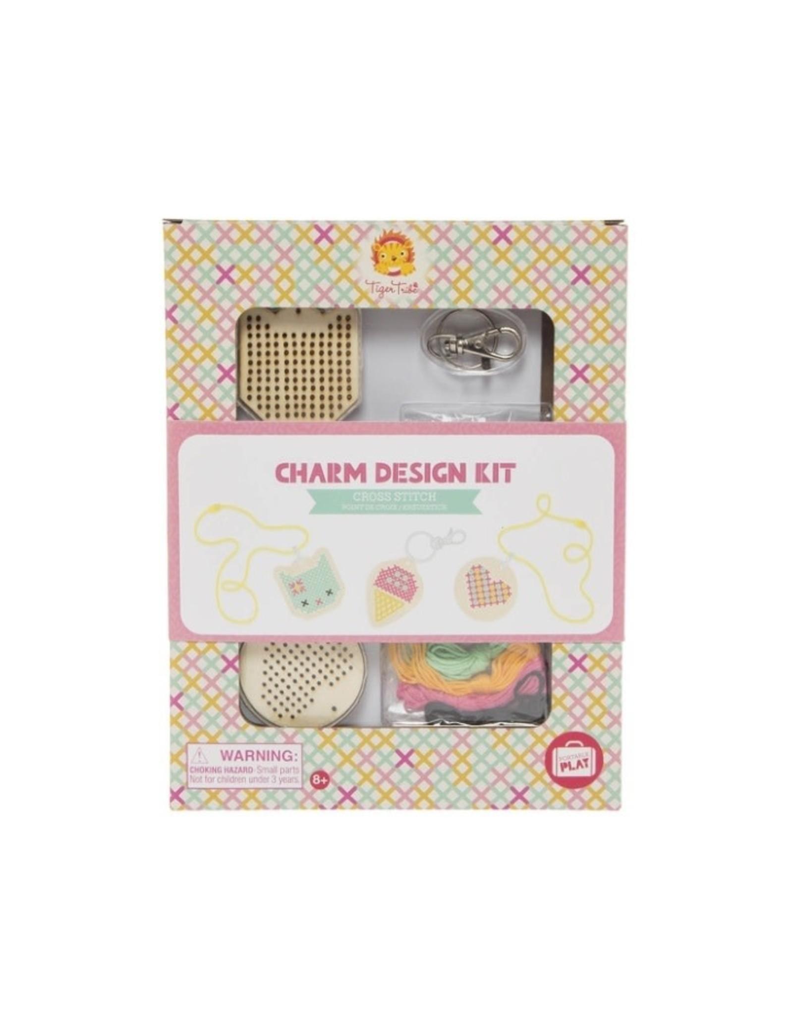 "Tiger Tribe Charm Design Kit ""Cross Stitch"""